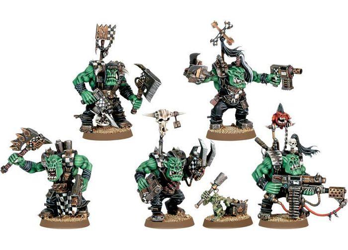 Набор миниатюр Warhammer 40,000. Ork Nobz от 1С Интерес