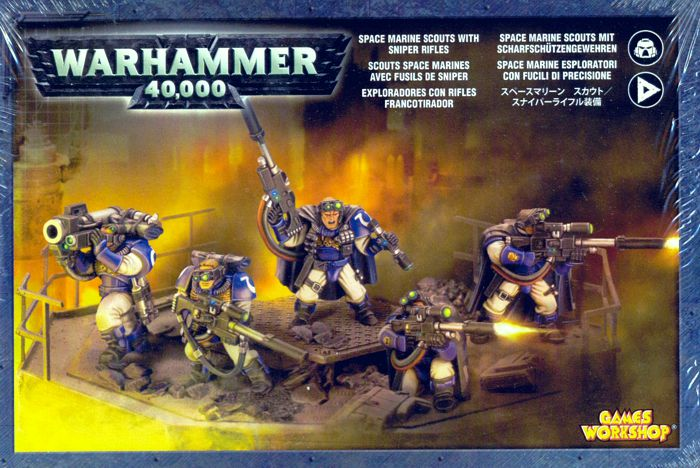 Набор миниатюр Warhammer 40,000. Space Marine Scouts with Sniper Rifles
