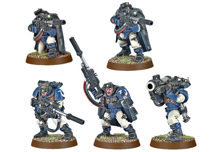 Набор миниатюр Warhammer 40,000. Space Marine Scouts with Sniper Rifles от 1С Интерес