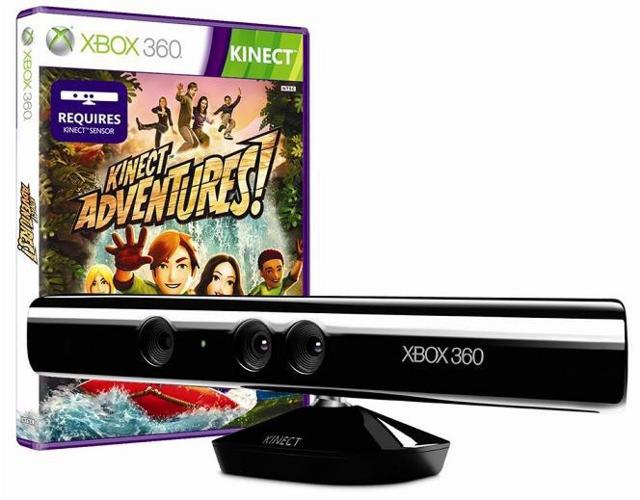 Сенсор Kinect для Xbox360 + игра Kinect Adventures от 1С Интерес