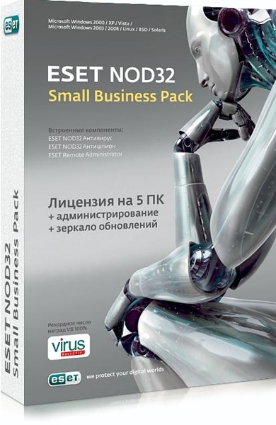 ESET NOD32 Антивирус. Small Business Pack (5 ПК, 1 год) eset nod32 антивирус business edition 25 пк