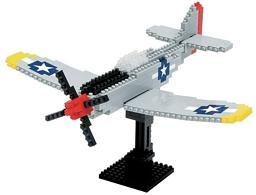 Конструктор nanoBlock. Самолет P-51 Мустанг