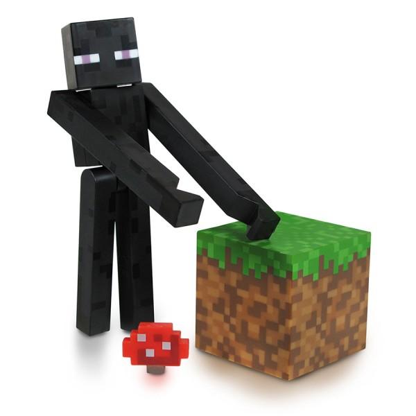 Фигурка Minecraft  Core Enderman с аксессуарами (6 см)В комплект с фигуркой Core Minecraft  Enderman Minecraft, выпущенной фирмой Jazwares, входит кубик земли и грибок.<br>