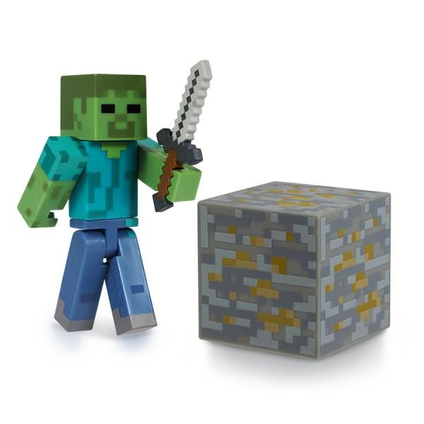 Фигурка Minecraft Zombie с аксессуарами (6 см)Фигурка Minecraft Zombie, выпущенная фирмой Jazwares, создана по мотивам популярной компьютерной игры.<br>