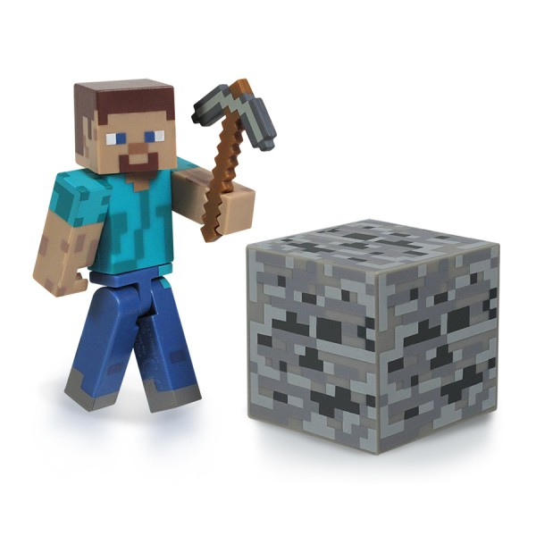 Фигурка Minecraft Steve с аксессуарами (6 см)