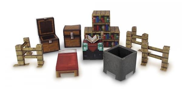 Minecraft Papercraft: Overworld Utility Pack (30 деталей)