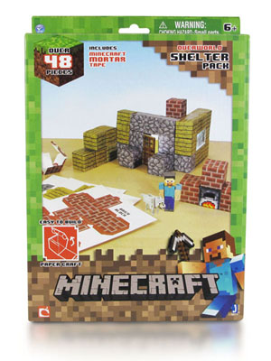 Minecraft Papercraft. Overworld Shelter Pack (48 деталей) от 1С Интерес