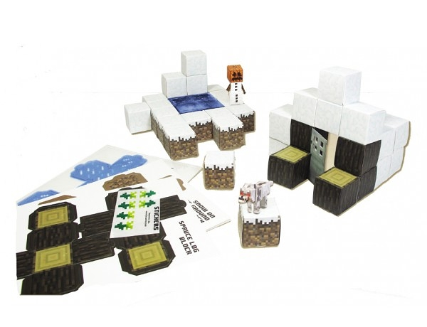 Minecraft Papercraft. Overworld Snow Biome (48 деталей)