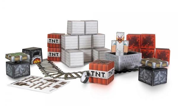 Minecraft Papercraft. Overworld Minecraft Pack (48 деталей)