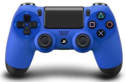 Беспроводной геймпад DualShock 4 Wave Blue для PS4 (синий)