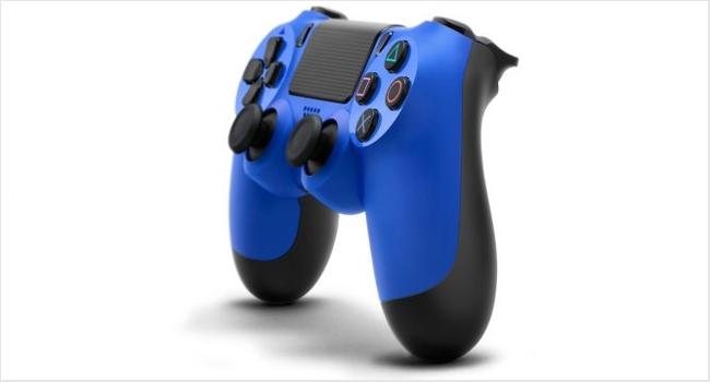 Беспроводной геймпад DualShock 4 Wave Blue для PS4 (синий) от 1С Интерес