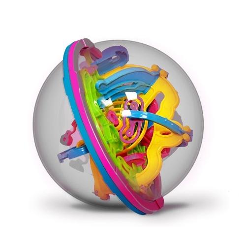 Шар-лабиринт Лабиринтус: 100 шагов (13 см)Лабиринтус. 100 шагов представляет собой прозрачный шар, внутри которого проложен сложнейший лабиринт дорожек и металлический шарик.<br>