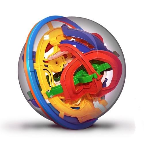 Шар-лабиринт Лабиринтус: 138 шагов (19 см)Лабиринтус. 138 шагов представляет собой прозрачный шар, внутри которого проложен сложнейший лабиринт дорожек и металлический шарик.<br>