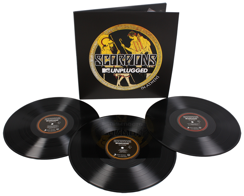 Scorpions. MTV unplugged. Live in Athens (3 LP)Scorpions. MTV unplugged. Live in Athens &amp;ndash; запись уникального шоу в Афинах в атмосферном Lycabettus театре.<br>