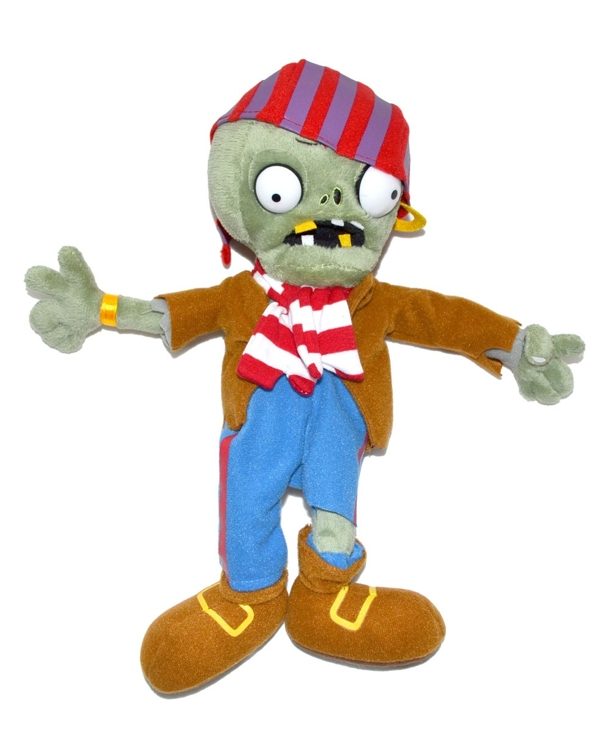Мягкая игрушка Plants vs Zombies: Зомби Пират (30 см)