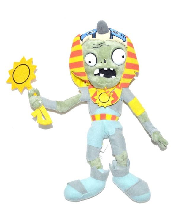 Мягкая игрушка Зомби Фараон (30 см)Мягкая игрушка Зомби Фараон создана по мотивам популярной компьютерной игры &amp;laquo;Растения против Зомби&amp;raquo;.<br>