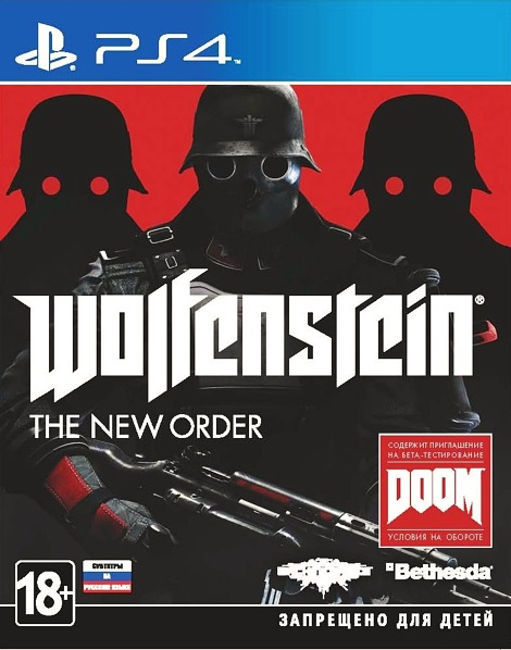 Wolfenstein. The New Order [PS4]В игре Wolfenstein. The New Order &amp;ndash; очнувшись в этом новом, мрачном мире, вы должны совершить невозможное – сокрушить чудовищный нацистский режим.<br>