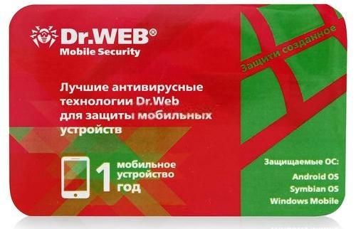 Dr.Web Mobile Security (1 устройство, 1 год) (скретч-карта)