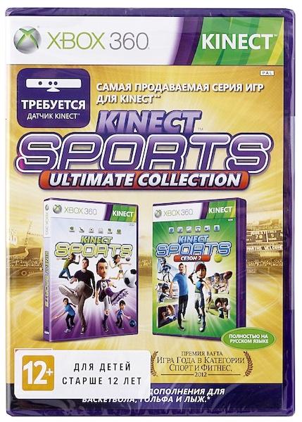Kinect Sports. Ultimate Collection (только дляKinect) [Xbox360]В игре Kinect Sports благодаря устройству Kinect для Xbox 360, вы станете не только главным действующим лицом, но и самим контроллером, а Kinect Sports 2 предложит спортивные состязания для игроков любого уровня мастерства.<br>