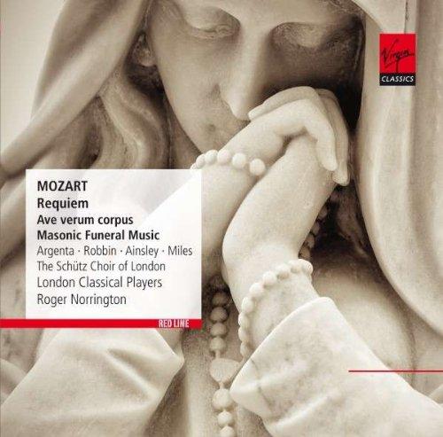 Mozart: Requiem – Ave Verum Corpus – Masonic Funeral Music (CD)Mozart. Requiem. Ave Verum Corpus. Masonic Funeral Music &amp;ndash; сборник произведений австрийского композитора Вольфганга Амадея Моцарта в исполнении London Classical Players, Roger Norrington.<br>
