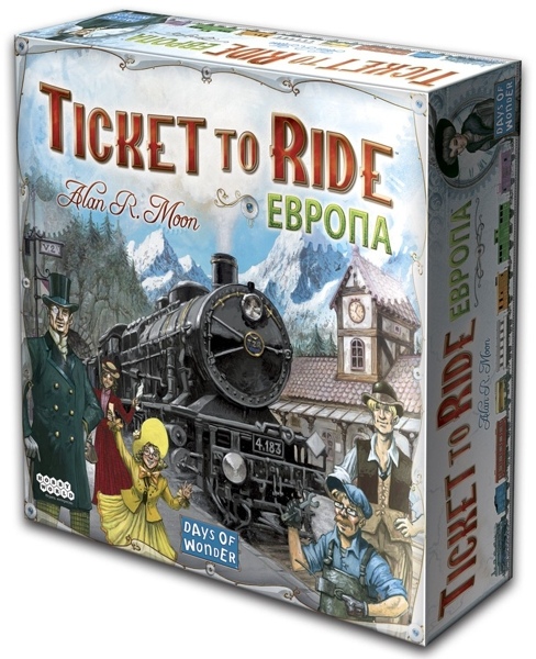 Настольная игра Ticket to Ride: Европа билет на поезд на 30 декабря на сваляву