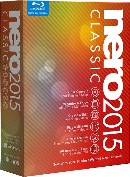 Nero 2015 Classic (Цифровая версия)Программное обеспечение Nero 2015 – это комплект инструментов для обработки цифровых фотографий, аудиофайлов и видеофильмов.<br>