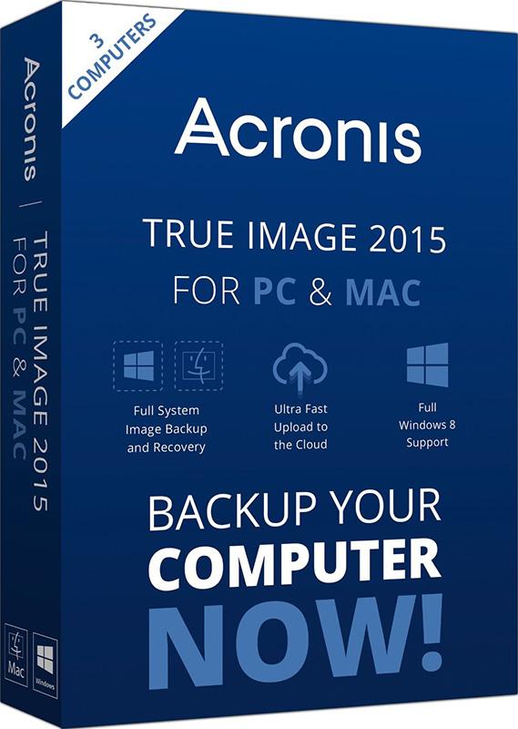 Acronis True Image 2015 для PC и Mac (3 лицензии) (Цифровая версия)