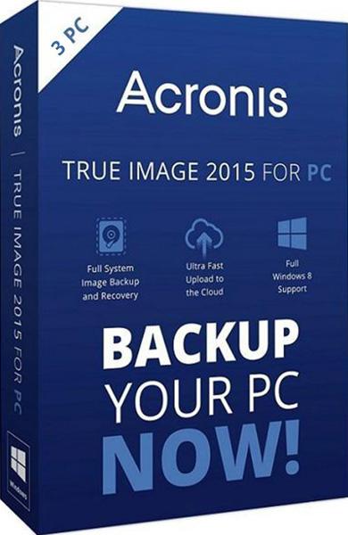 Acronis True Image 2015 (3 лицензии) (Цифровая версия)