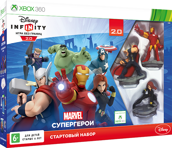 Disney Infinity 2.0. Marvel. Стартовый набор [Xbox 360] ditmo dm 6670 3 5mm plug in ear earphone w microphone for cellphone black red white