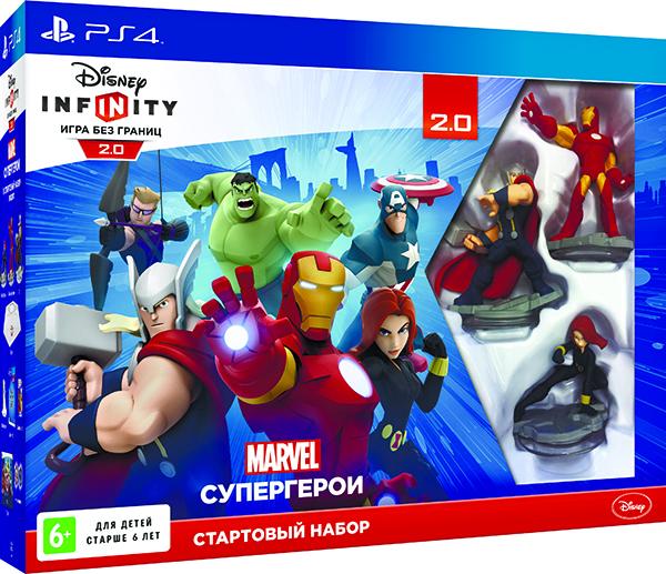 Disney Infinity 2.0. Marvel. Стартовый набор [PS4]В игре Disney Infinity 2.0. Marvel вы встретитесь со знаменитыми супергероями, выполните множество увлекательных заданий на игровых аренах, а также сможете создать собственные приключения.<br>