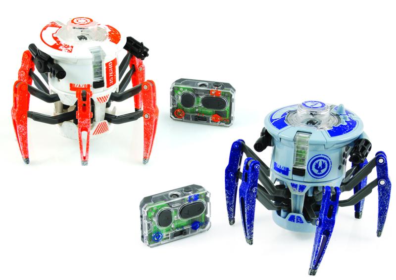 Набор микророботов из двух Боевых СпайдеровНабор микророботов из двух Боевых Спайдеров со световыми и звуковыми эффектами на ручном управлении от компании Hexbug.<br>