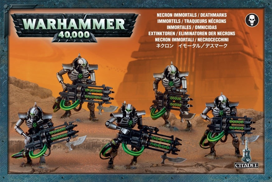 Набор миниатюр Warhammer 40,000. Necron Immortals / Deathmarks the immortals dark flame
