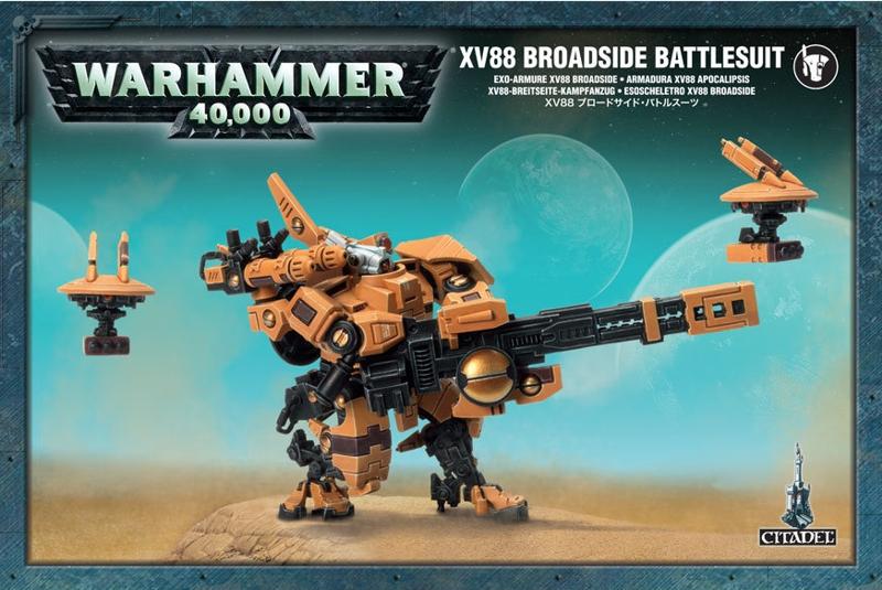 Набор миниатюр Warhammer 40,000. XV88 Broadside BattlesuitПредставляем набор миниатюр Warhammer 40,000. XV88 Broadside Battlesuit.<br>