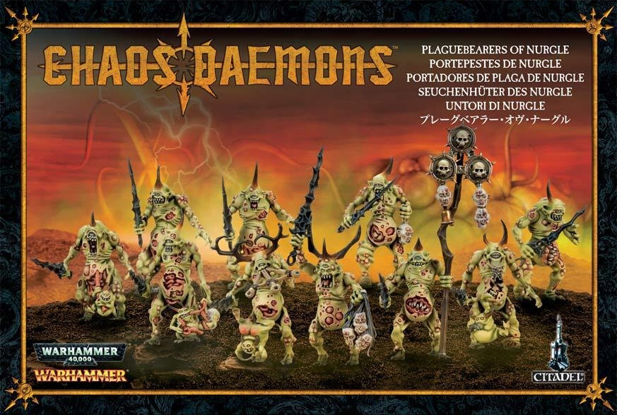 Набор миниатюр Warhammer 40,000. Plaguebearers of NurgleПредставляем набор миниатюр Warhammer 40,000. Plaguebearers of Nurgle.<br>