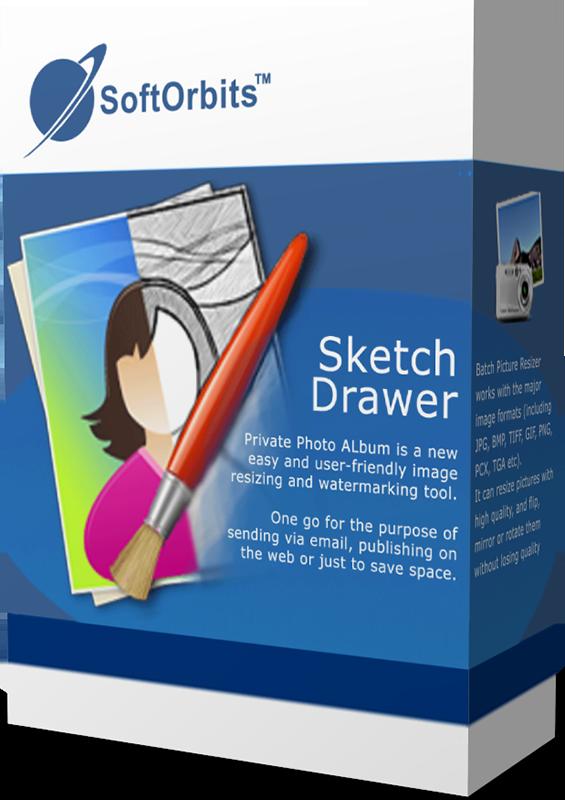 SoftOrbits Sketch Drawer (Создание эффекта рисунка из фото) (Цифровая версия)