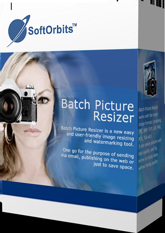 SoftOrbits Batch Picture Resizer (Фотоконвертер) (Цифровая версия)SoftOrbits Batch Picture Resizer – это программа для изменения размеров фотографий, преобразования форматов, пакетной обработки фотографий, переименования файлов и наложения водяных знаков.<br>