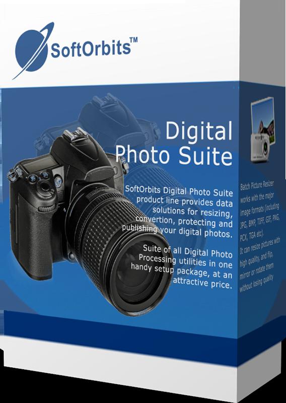SoftOrbits Digital Photo Suite (Лучшие программы для работы с фотографиями) [Цифровая версия] (Цифровая версия)Линия продуктов Soft Digital Photo Suite – предназначена для обработки и изменения размера изображений, преобразования форматов, защиты фотографий от нелегального копирования.<br>