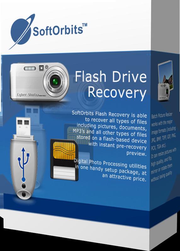 SoftOrbits Flash Drive Recovery (Восстановление флеш-карт) (Цифровая версия)SoftOrbits Flash Drive Recovery – это утилита, позволяющая осуществить восстановление удаленных фотографий, документов и других типов данных.<br>