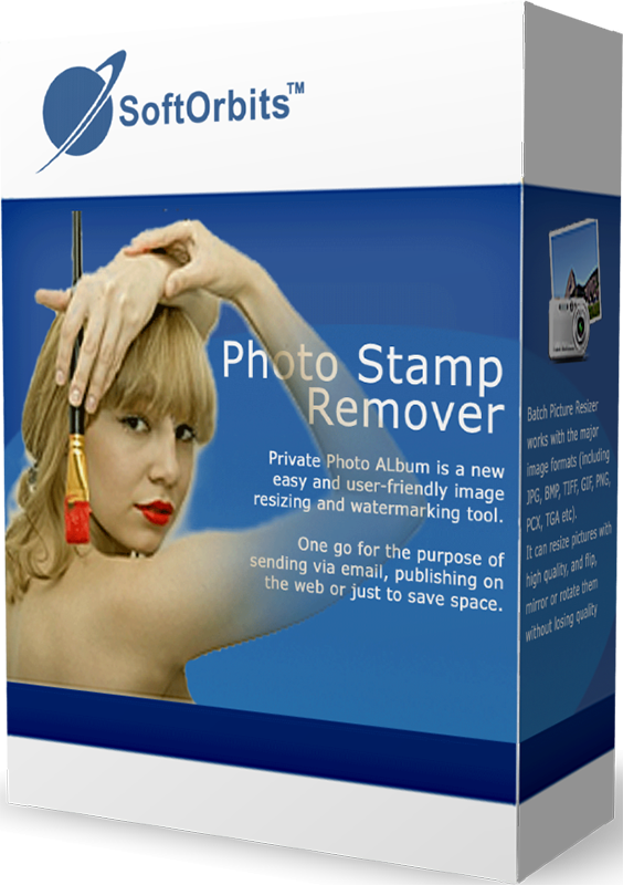 SoftOrbits Photo Stamp Remover (Удаление объектов с фото) (Цифровая версия)SoftOrbits Stamp Remover – это утилита, с помощью которой пользователь легко может удалить нежелательные объекты с фото, например, убрать водяной знак с фотографии, удалить логотипы и штампы с датой.<br>