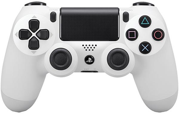 Беспроводной геймпад Dualshock 4 Glacier White для PS4 (белый)Беспроводной геймпад DualShock 4 – контроллер нового поколения для новой эры видеоигр, который представляет собой большой шаг вперед в развитии игровых устройств управления.<br>