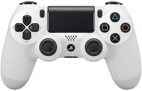Беспроводной геймпад Dualshock 4 Glacier White для PS4 (белый)