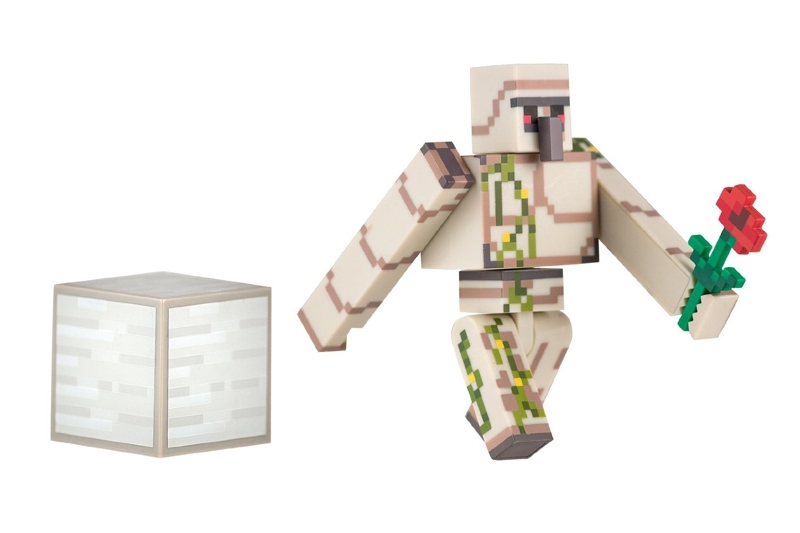 Фигурка Minecraft Iron Golem с аксессуарами (6 см)Фигурка Minecraft Iron Golem с аксессуарами, выпущенная фирмой Jazwares, создана по мотивам популярной компьютерной игры.<br>