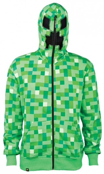 Детская толстовка Minecraft. Creeper Premium Zip-up (зеленая) (XS) (34–36)Детская толстовка Minecraft. Creeper Premium Zip-up &amp;ndash; высококачественная толстовка для настоящих ценителей компьютерной игры Minecraft.<br>