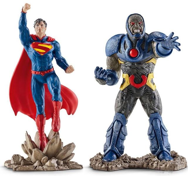 Набор фигурок Супермен и ДарксейдНабор фигурок Супермен и Дарксейд  от немецкого производителя игрушек Шляйх приведет в восторг всех любителей знаменитой истории.<br>
