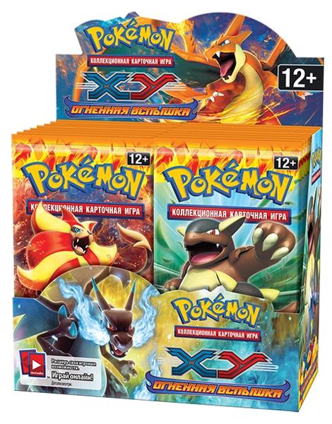 Коллекционная карточная игра Pokemon XY. Огненная вспышка. Дисплей бустеровКоллекционная карточная игра Pokemon впервые появилась в 1996 году и сразу же завоевала сердца игроков. С тех пор было продано более 21,5 миллиарда карточек в 74 странах.<br>
