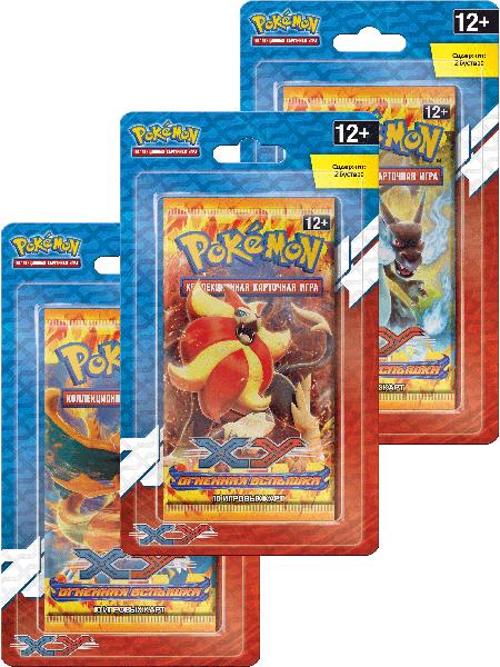 Коллекционная карточная игра Pokemon XY. Огненная вспышка. Двойной блистерКоллекционная карточная игра Pokemon впервые появилась в 1996 году и сразу же завоевала сердца игроков. С тех пор было продано более 21,5 миллиарда карточек в 74 странах.<br>
