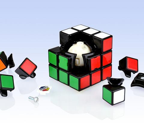 Скоростной Кубик Рубика 3х3Новинка 2015 – версия скоростного Кубик Рубика на базе нового механизма, который можно настраивать и с конструкцией без наклеек.<br>