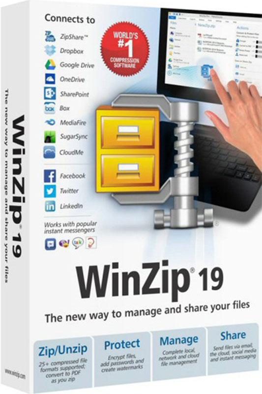WinZip 19 Pro (2-9 лицензий) (Цифровая версия)В Corel WinZip 19 Pro мощное приложение для обмена файлами, кардинальным образом меняющее работу со всеми вашими файлами, где бы они ни находились, в облаке или на локальном накопителе.<br>