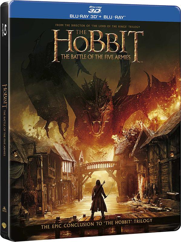 Хоббит: Битва пяти воинств (Blu-ray 3D + 2D) в железном боксе The Hobbit: The Battle of the Five ArmiesВ фильме Хоббит: Битва пяти воинств путешествие в Эребор, захваченное драконом Смаугом королевство гномов, оказалось еще более опасным, чем предполагали гномы и даже Гэндальф – мудрый волшебник, протянувший Торину и его отряду руку помощи.<br>
