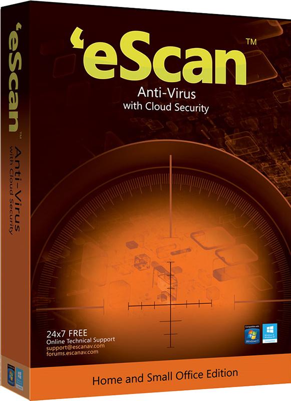 eScan AntiVirus для дома и малого офиса (1 ПК, 1 год) (Цифровая версия)